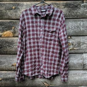 Vans Plaid Flannel Long Sleeve Button Down